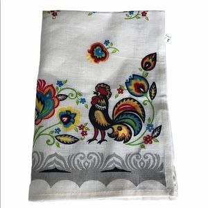 🇨🇦Gorgeous Linen Tea Towel Rooster Print